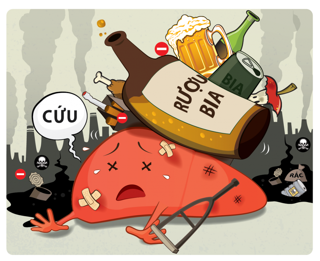 Các tác nhân từ rượu là cực kì nguy hiểm từ kiến thức phổ thông